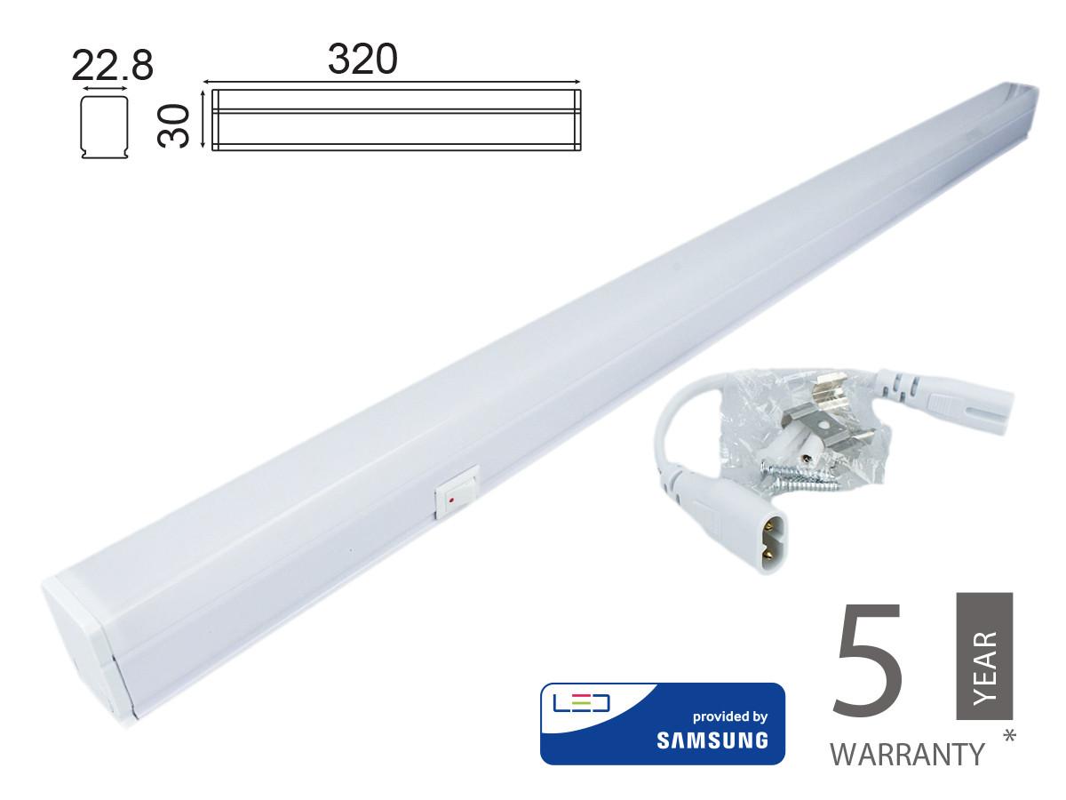 Plafoniera Tubo Led.Plafoniera Tubo Led T5 30cm 4w Neutro 4000k Lineare Raccordabile Allungabile Chip Smd Samsung Sku 690