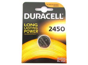 Pila Batteria Lithium A Bottone Duracell Litio 2450 DL2450 ECR2450 CR2450 3V