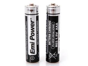 4 Pezzi Pila Batteria Tipo Ministilo AAA 1,5V Carbonio LR03 MN2400 - NON Ricaricabile