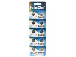 Pila Batteria A Bottone LR1121 LR55 191 1,5V Extrastar AG8 Confezione Da 10 Pile
