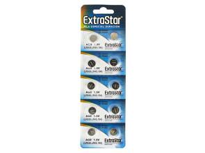 Pila Batteria A Bottone LR936 LR45 194 1,5V Extrastar AG9 Confezione Da 10 Pile