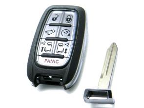 Chiave Telecomando Completa per Alfa Romeo Giulia Stelvio Chrysler Pacifica Compatibile 68217832 Fcc M3N-97395900 Keyless Smart Key Transponder 4A 434MHz Ask 7 Tasti CY22