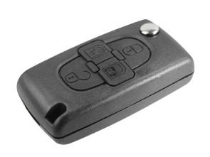 Guscio Chiave Telecomando 4 Tasti Con Lama VA2 Batteria In Custodia Senza Transponder Per Peugeot 207 107 106 206 407 806 Citroen