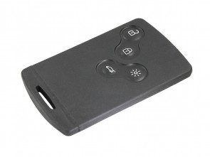 Chiave Telecomando Completa Smart key Card per Renault Laguna 3 III(2009-2013) Fluence (2012-2016) Scenic 3 III (2009-2013) Megane 3 III (2009-2013) 285975779R Transponder 46 PCF7952/434MHz Fsk 4 Tasti VA2